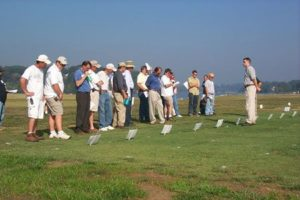 Field Day guests at Turfgrass Field Day