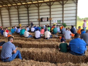 Field Day presentation in barn